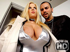 Hot big titty fuck me boots babe Haley Cummings gets drilled hard and then cumfaced