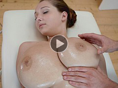 Teen Busty Buffy Gets Her Massive Tits Massaged With Oil